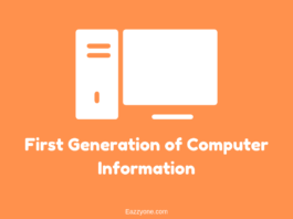 First Generation of Computer Information