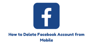 How to Delete Facebook Account from Mobile